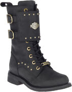 Harley-davidson Women's Barlyn 8-inch Black Leather Motorcycle Boots, D87195