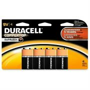 Brand New Duracell 9 Volt Coppertop 4-pack Four 9 Volt Batteries Expired 2018