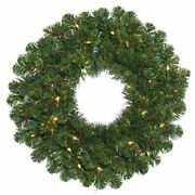 Vickerman 24 Oregon Fir Artificial Christmas Wreath With 35 Clear Lights