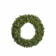 Vickerman 30 Grand Teton Artificial Christmas Wreath With 50 Clear Lights
