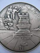 Simeon From The 12 Tribes Of Israel Salvador Dali Pure Silver 3-oz. Coin+gold