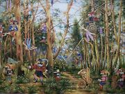 Painting, Canvas, Artwork. Fairy Forest. Gnome. Desired Reality Oil Paint Canvas