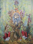 Painting Canvas Artwork. Gnome. Miracle Worker. Fandikov Oil Paint Canvas