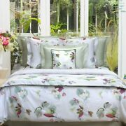 Riviera By Yves Delorme, Cotton Sateen Duvet Cover, Floral Print, Made In France