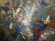 Painting Canvas Artwork. Abstraction. Figol. Oil Paint Canvas