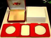 Setup For Special Gift Day Coin Or Barand039heartsand039 Insert +red Velour Pres Cs