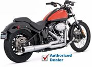 Vance And Hines Chrome 2 Into 1 Pro Pipe Exhaust System Pipes 12-17 Harley Softail