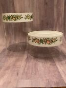 Vintage Pyrex Spice Of Life Glass Store N See Stackable Storage Canisters As Is