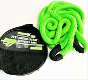 Grip 7/8 X 20and039 Kinetic Energy 4x4 Truck Tow Recovery Rope 21970lb Strap Snatch