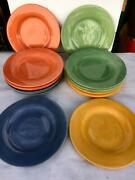 Set Of 16 Pottery Barn Sausalito Dinner Plates,platter,charger,chop 12 Asst Col