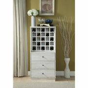 Wooden Wine Cabinet With Wine Bottle Rack And Three Drawers, White
