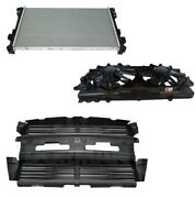 Radiator Active Grille Shutters And Cooling Fan Kit For Ford Explorer 3.5l V6 Fwd
