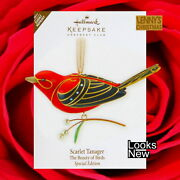 Hallmark Ornament 2011 Scarlet Tanager Beauty Of Birds Repaint Looks New