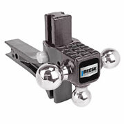 Reese Rotating Triple Ball Mount W Step Fits 2 Receiver 1-7/8 2 2-5/16 Balls