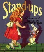 Vintage Reprint - 1934 - Alice In Wonderland Stand-ups Punch Out Book