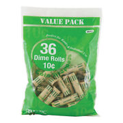 Bazic Dime Coin Wrappers 36/pack Pack Of - 50