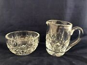 Waterford Crystal Giftware Open Sugar Bowl And Creamer Set - Ireland