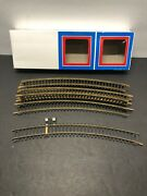 """Ho Scale Trains Model Power 12 Brass Curve Train Track One Terminal 10"""""""