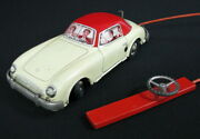 Rare Early French Tin Wind Up Toy Car Remote Mercedes France Joustra 1967 See