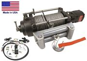 Hydraulic Winch For Ford Explorer - 12000 Lbs Cap - Waterproof - Reversible