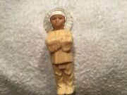 Celluloid Indian Chief Native American Boy Doll Toy Molded Plastic- Vintage