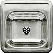Decorative Square Drop-in Entertainment/prep Sink With A Smooth Surface - Pol...