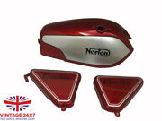 Norton Commando Fastback Red And Silver With +side Panels |fit For