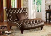 Acme Furniture Anondale - Chaise And 3pillows 2-tone Brown Pu
