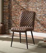 Acme Furniture Millerton - Side Chair Set-2 Vintage Chocolate Tgl And Antique...