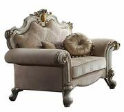 Acme Furniture Chair W/pillows - Fabric And Antique Pearl Yantian