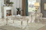 Acme Furniture Gorsedd - Coffee Table Marble And Antique White