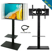 Tall Swivel Tv Stand Mount With Component Shelf For 32-65 Led Lcd Samsung Sony