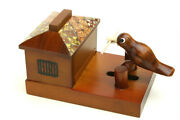 Wooden Mosaic Toothpick Holder Take Out A Bird In Oneand039s Mouth Toothpick Bird