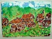 Yum, Gingerbread  Original Acrylic Colorshift Painting, Signed, Don Allen