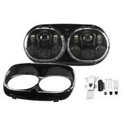 Motorcycle Projector Dual Led Headlight Hi-low Beam For Road Glide Headlamp