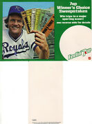 1981 George Brett 7 Up Lot Sweepstakes Poster And Advertisement F20