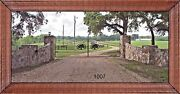 Steel - Iron Driveway Entry Gate 18 Ft Wide Dual Swing Residential Home Security