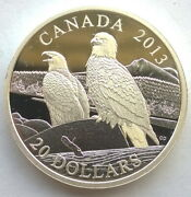 Canada 2013 Bald Eagles 20 Dollars 1oz Silver Coinproof