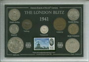The London Blitz Wwii Britain At War Raf Collectible Coin And Stamp Gift Set 1941