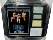 Wall Street Cast Signed Framed Collage Signed By Oliver Stone Sheen Douglas +1