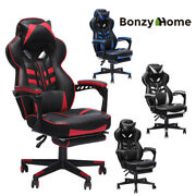 Racing Gaming Home Office Desk Computer Chair Ergonomic Leather 360 Swivel Seat
