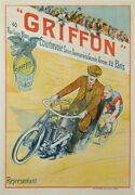 Trinquier 1910 Cycles Trianon 147x108 Griffon Old Poster