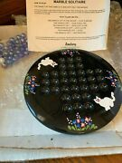 Vintage Cute Amsbury Marble Solitaire Game With Free Shipping