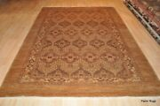 6and039 X 9and039 Best Quality Handmade Vegetable Dye Wool Diamond Design Rug Camel Color