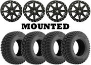 Kit 4 Tensor Regulator Tires 30x10-15 On Sti Hd10 Gloss Black Wheels Hp1k