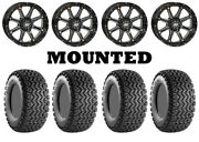 Kit 4 Carlisle All Trail Tires 25x8-12/25x10.5-12 On Sti Hd4 Gloss Black Irs