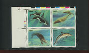 Scott 2511b Sea Creatures Black Color Omitted Error Plate Block Of 4 Stamps Nh