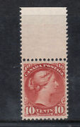 Canada 45 Extra Fine Never Hinged Top Margin Example With Certificate