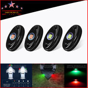 4x Marine Boat Bow Led Navigation Lights Stern Transom Underwater Light 9w