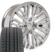 Chrome 22 Wheels And 285/45-22 Tires Fit Chevy Gmc Cadillac High Country